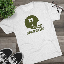 Load image into Gallery viewer, Men's Retro Spartans Tri-Blend Crew Tee