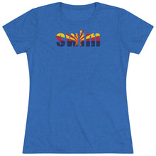 Load image into Gallery viewer, Women's Swim Arizona Triblend Tee