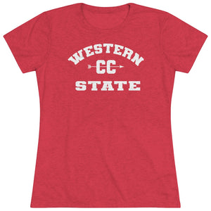 Women's Western State College CC Triblend Short Sleeve Tee
