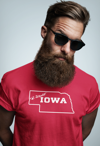 Men's Visit Iowa Tri-Blend Crew Tee