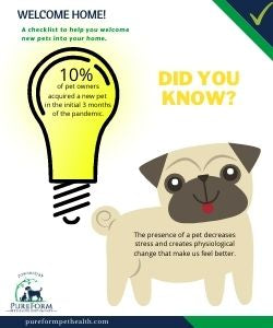Welcoming new pets into your home: downloadable checklist