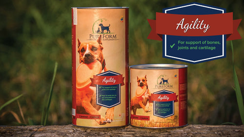 PureForm Pet Health Agility supplements for joint support