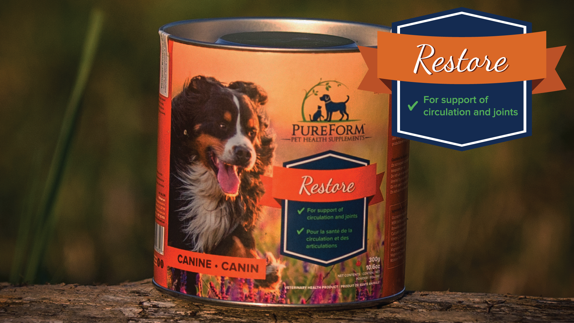 PureForm Pet Health Restore supplements for joint support