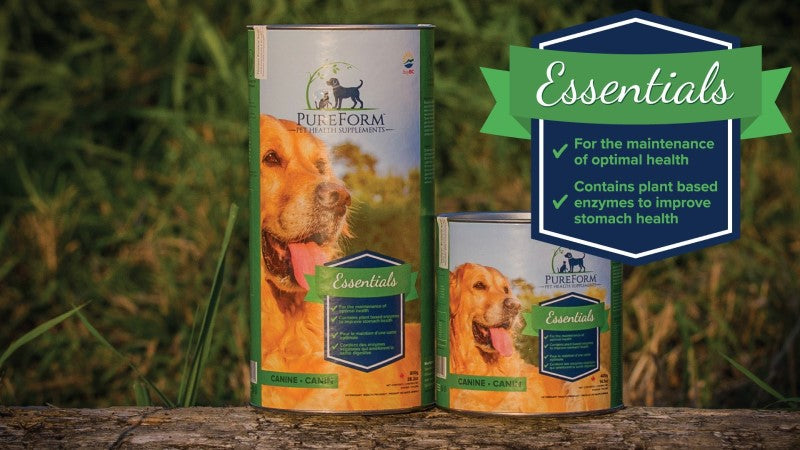 PureForm Pet Health Essentials supplements for joint support