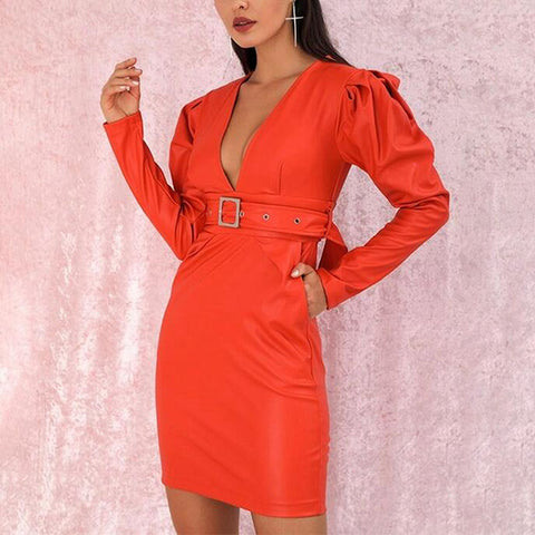 Women's sexy belt business Dress