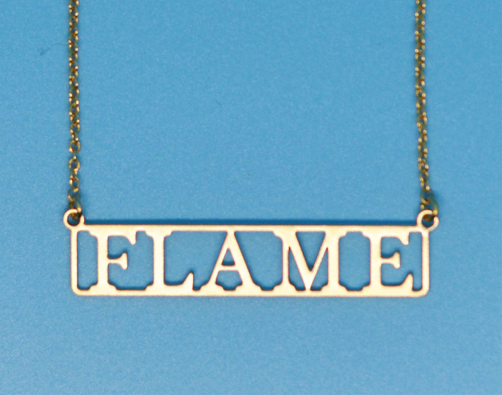 Flame 18k Gold Plated Necklace