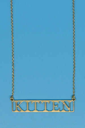 Kitten 18k Gold Plated Necklace