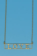 Love 18k Gold Plated Necklaces