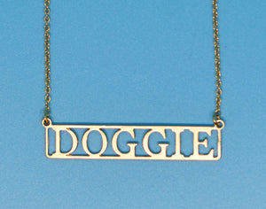 Doggie 18k Gold Plated Necklace