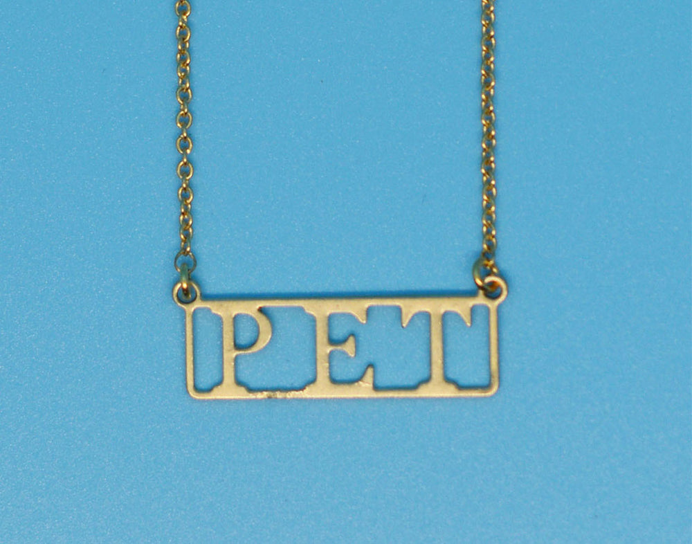 Pet 18k Gold Plated Necklace