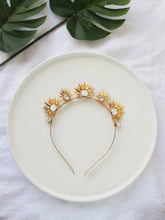 Load image into Gallery viewer, Bridal hair crown, gold crown, rose gold hair crown, bridal hair accessory, statement crown, bridal headpiece, romantic hairpiece, modern hair accessories, modern crown, raceday hair accessories, hair adornment, gold hair accessories, rose gold hair accessories