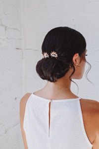 Bridal hair pin, gold hairpin, rose gold hair pin, bridal hair accessory, statement hair pin, bridal headpiece, romantic hairpiece, modern hair accessories, raceday hair accessories, hair adornment, gold hair accessories, rose gold hair accessories