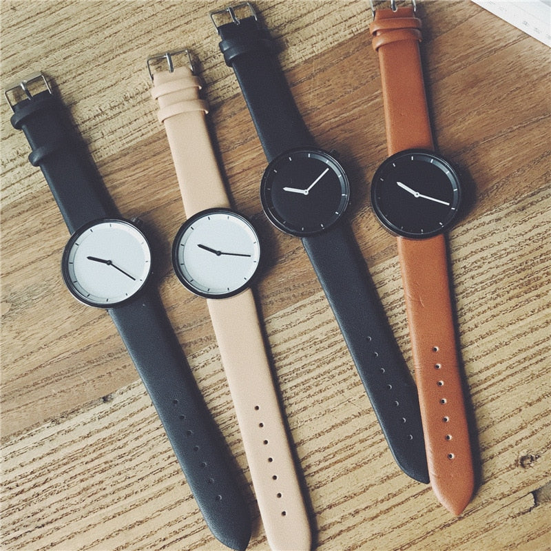 Minimalist Mens Leather Watch