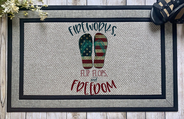 Fireworks Flip Flops and Freedom || Patriotic
