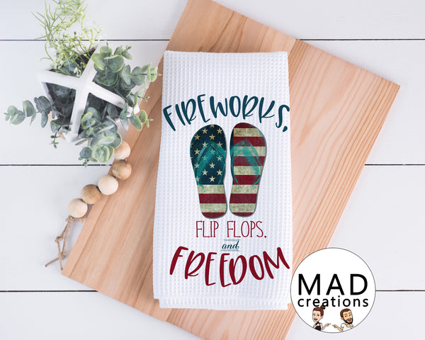 Patriotic || Fireworks Flip Flops and Freedom