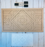 DIY || Barn Quilt Geometric Wood Sign