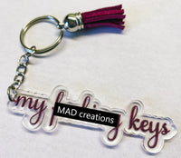 PROMOTION || Personalized Keychain with Tassel