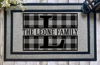 Personalized || Large Buffalo Plaid Monogram