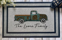 Personalized || Leopard Print and Teal Truck