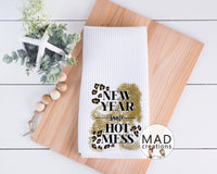 New Year Kitchen Towel - Leopard Print