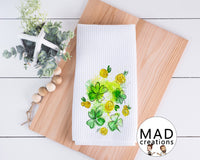 St Patricks Day || Green Watercolor Shamrocks