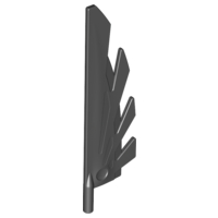 LEGO Wing 9L with Stylized Feathers [Black] [11091]