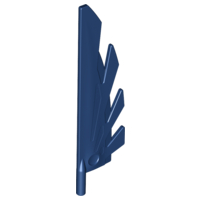 LEGO Wing 9L with Stylized Feathers [Dark Blue] [11091]
