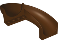 LEGO Slide, Playground 6 x 12 x 8 Curved 180 degrees [Dark Brown] [11267]