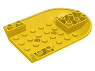 LEGO Aircraft Fuselage Curved Forward 6 x 8 Bottom [Yellow] [11295]