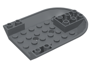 LEGO Aircraft Fuselage Curved Forward 6 x 8 Bottom [Dark Bluish Gray] [11295]