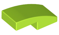 LEGO Slope, Curved 2 x 1 No Studs [Lime] [11477]