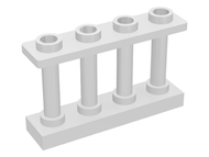 LEGO Fence 1 x 4 x 2 Spindled with 4 Studs [White] [15332]