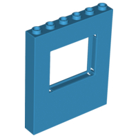 LEGO Panel 1 x 6 x 6 with Window [Dark Azure] [15627]