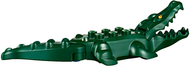 LEGO Alligator / Crocodile with 20 Teeth with Yellow Eyes Pattern with Blue Technic, Pin 1/2 [Dark Green] [18904c01pb01]
