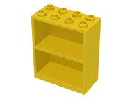 LEGO Homemaker Bookcase 2 x 4 x 4 [Yellow] [1]
