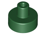 LEGO Tile, Round 1 x 1 with Bar and Pin Holder [Dark Green] [20482]