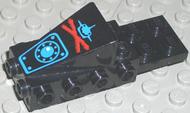 LEGO Cockpit Space Nose with Aquazone Aquashark Blue Shark with Red 'X' Pattern [Black] [2336pb01]