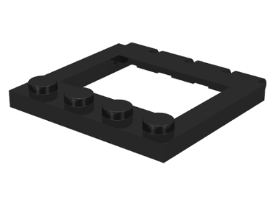 LEGO Hinge Vehicle Roof 4 x 4 Sunroof [Black] [2349]