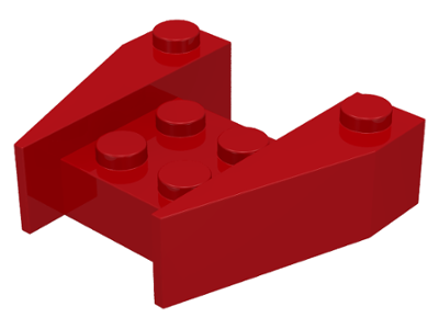 LEGO Wedge 3 x 4 without Stud Notches [Red] [2399]