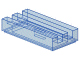 LEGO Tile, Modified 1 x 2 Grille with Bottom Groove / Lip [Trans-Medium Blue] [2412b]