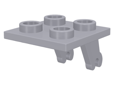 LEGO Plate, Modified 2 x 2 Thin with Plane Single Wheel Holder [Light Bluish Gray] [2415]