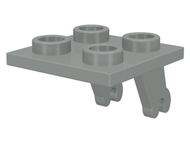 LEGO Plate, Modified 2 x 2 Thin with Plane Single Wheel Holder [Light Gray] [2415]