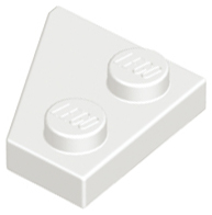 LEGO Wedge, Plate 2 x 2 Right [White] [24307]