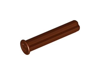 LEGO Technic, Axle 3 with Stop [Reddish Brown] [24316]