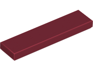 LEGO Tile 1 x 4 [Dark Red] [2431]