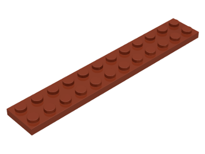 LEGO Plate 2 x 12 [Reddish Brown] [2445]