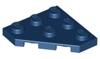 LEGO Wedge, Plate 3 x 3 Cut Corner [Dark Blue] [2450]