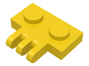 Lego YELLOW HINGE PLATE 1 x 2 with 3 Fingers