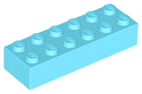 LEGO Brick 2 x 6 [Medium Azure] [2456]