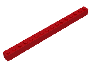 LEGO Brick 1 x 16 [Red] [2465]